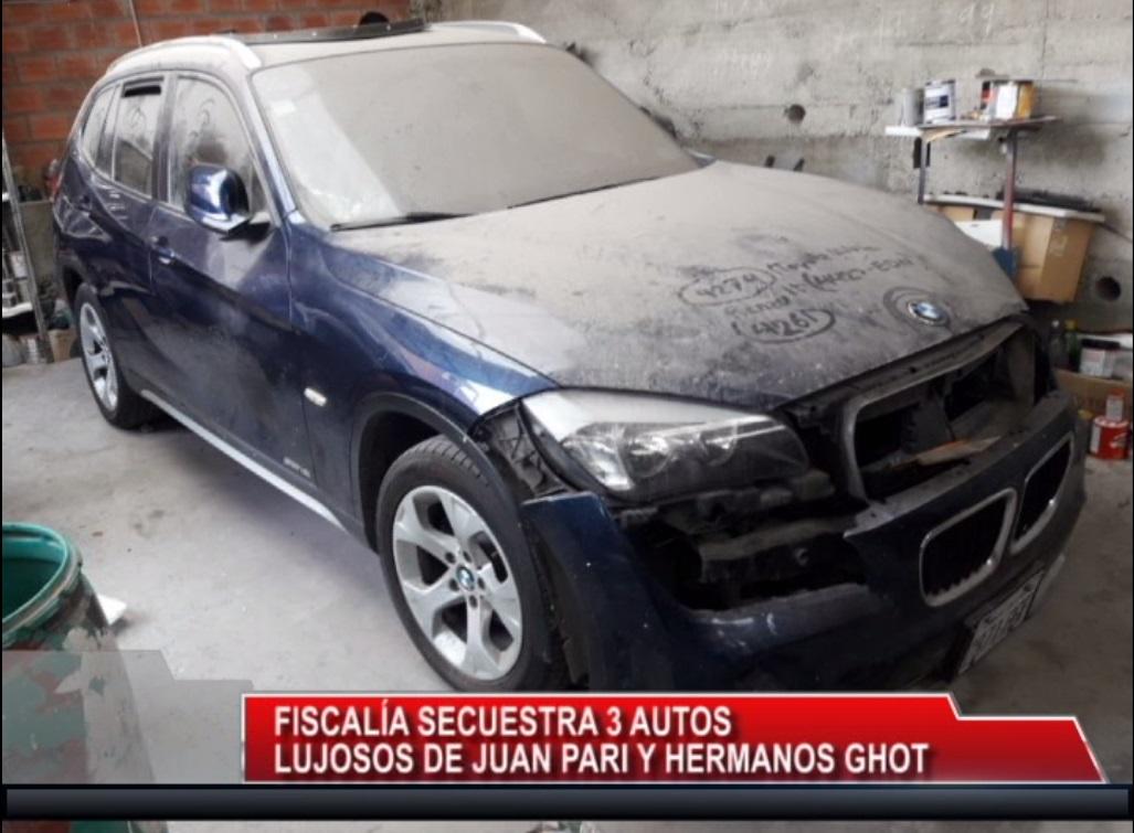 Fiscalía secuestro tres vehículos de Juan Franz Pari y J. Carlos Gott
